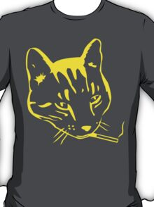 Party Cat (Yellow on Dark Grey) T-Shirt