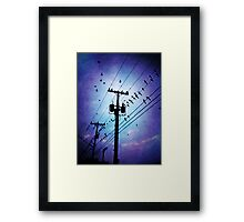 starling you were right i am the jealous kind Framed Print