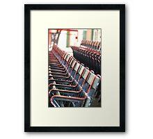 Fenway Park historic seats Framed Print
