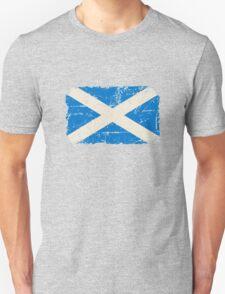 Scotland Flag - Vintage Look Unisex T-Shirt