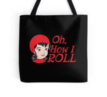 Oh, How I roll Roller derby chick in RED Tote Bag