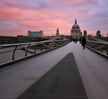 Millennium Bridge Sunrise by Mark Tomlinson