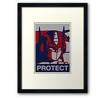 Optimus Prime - Protect Framed Print