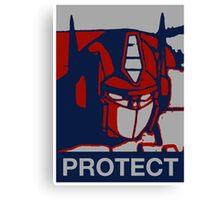 Optimus Prime - Protect Canvas Print