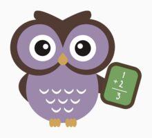 Math Teacher Owl Kids Tee