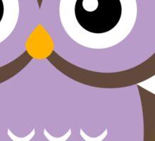 Math Teacher Owl Sticker