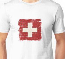 Swiss Flag - Vintage Look Unisex T-Shirt