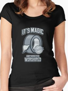 Duct Tape is Magic Women's Fitted Scoop T-Shirt