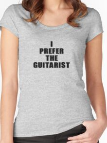 I Prefer The Guitarist - Jimi Hendrix T-Shirt Women's Fitted Scoop T-Shirt