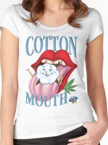 Marijuana Cotton Mouth T-Shirt Women's Fitted Scoop T-Shirt