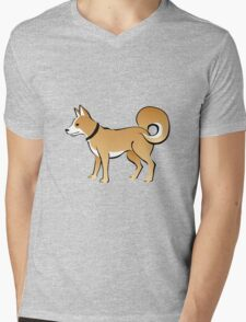 Cartoon Dog Mens V-Neck T-Shirt