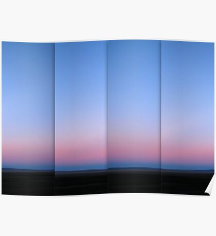 Lake George at Dusk - Polyptych Poster