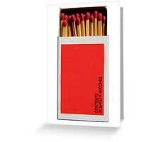 Box of Matches Phone Cover Greeting Card