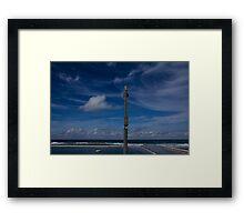 ocean baths blues Framed Print