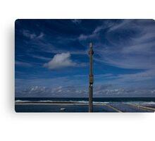 ocean baths blues Canvas Print
