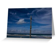 ocean baths blues Greeting Card