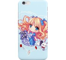 Following the white bunny iPhone Case/Skin