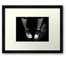 Stripy Socks and Connies  (Converse) Framed Print