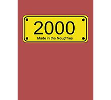 Born in the Noughties T-shirt ~ 2000s Car License Plate Card Photographic Print