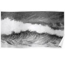 Theodor Kittelsen Boelgen bølger waves 1892 Poster