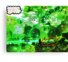 Invasion of the Blubbles Canvas Print