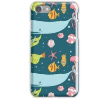 Seamless pattern with underwater scene iPhone Case/Skin
