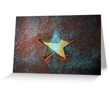 Rusty Star Greeting Card