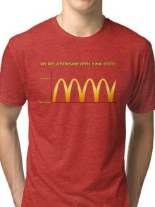 My Relationship With Junk Food Graph Tri-blend T-Shirt