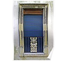Blue Window - Lecce Italy Poster