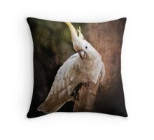 Cockatoo with Texture Throw Pillow