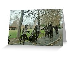 Runners in Spokane, Washington Greeting Card