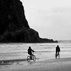 Bike Ride Past Haystack Rock by Patricia  Butler