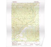 USGS Topo Map Oregon Westfir East 282055 1986 24000 Poster