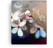 Painted Japanese Magnolias Canvas Print