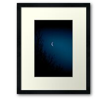 On a lonesome night when the blue moon shines Framed Print