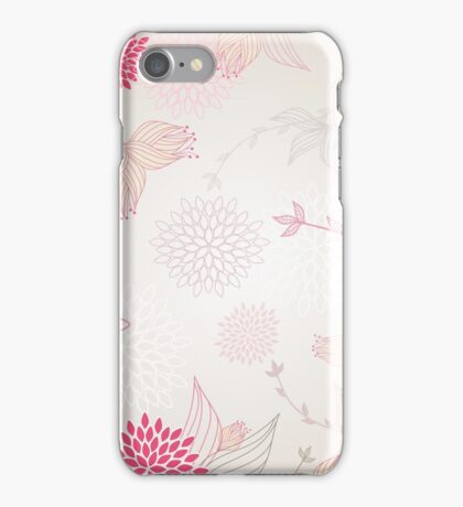 Pastel flowers background iPhone Case/Skin