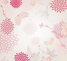 Pastel flowers background by Ana Marques