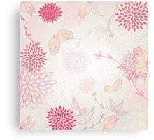 Pastel flowers background Canvas Print