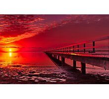 """Swan Bay Red"" Photographic Print"