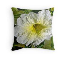 White Petunia (Solanaceae) Throw Pillow