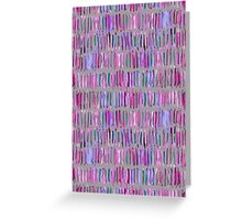 Messy Watercolor Stripes in Pink and Purple Greeting Card