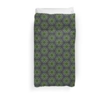 Stained glass greenery Duvet Cover