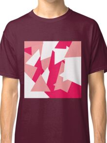 Girly Modern Geometric Pattern in Coral and Pink Classic T-Shirt