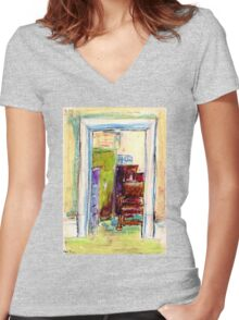 Cathy's Room Women's Fitted V-Neck T-Shirt