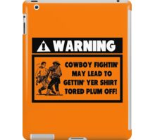 Warning for Cowboy Fights iPad Case/Skin