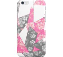Pink and Grey Rose Geometric Pattern iPhone Case/Skin