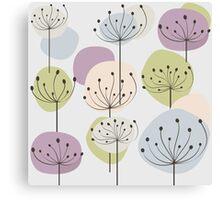Pastel dandelion flowers background Canvas Print