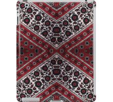 black, white and red flower pattern  iPad Case/Skin