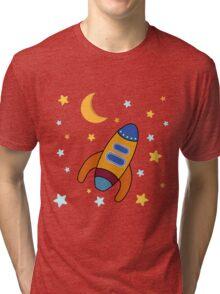 Space Rocket Tri-blend T-Shirt