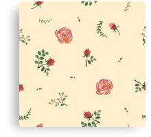 flowers watercolor of floral rose seamless pattern Canvas Print